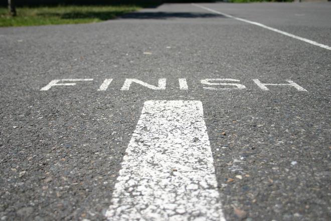 Finish hardlopen
